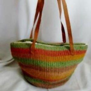 Ethnic Woven Knit Hobo Bucket Sling Bag